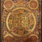 "Mandala (Buddha Detail) Handpainted Thangka Painting(15""x18"")"