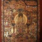 """Buddha Life Handpainted Thangka Painting(15""""x18"""""""