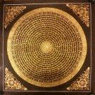 "Mantra Mandala Handpainted Thangka Painting(20""x20"")"
