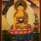 """Shakya Muni Buddha Handpainted Thangka Painting(11""""x15"""""""