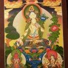 """White Tara Handpainted Thangka Painting(18""""x24"""")"""