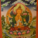 "Manjushree Handpainted Thangka Painting(18""x24"")"