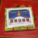 5 Roll Tibetan Prayer Flag Cotton High Quality 2.4M,NEPAL