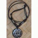 OM Mane Peme White Buffalo Bone Necklace, NEPAL