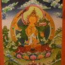 "Manjushree  Handpainte​d Thangka Painting(18""x24"")"