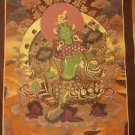 "Green Tara  Handpainte​d Thangka Painting(16.5""x22.5"")-II"