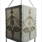 Buddha Eye Handmade Natural Lokta Paper  Lamp Shade,Nepal