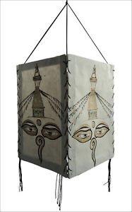 Buddha Eye Handmade Natural Lokta Paper  Lamp Shade,Nepal