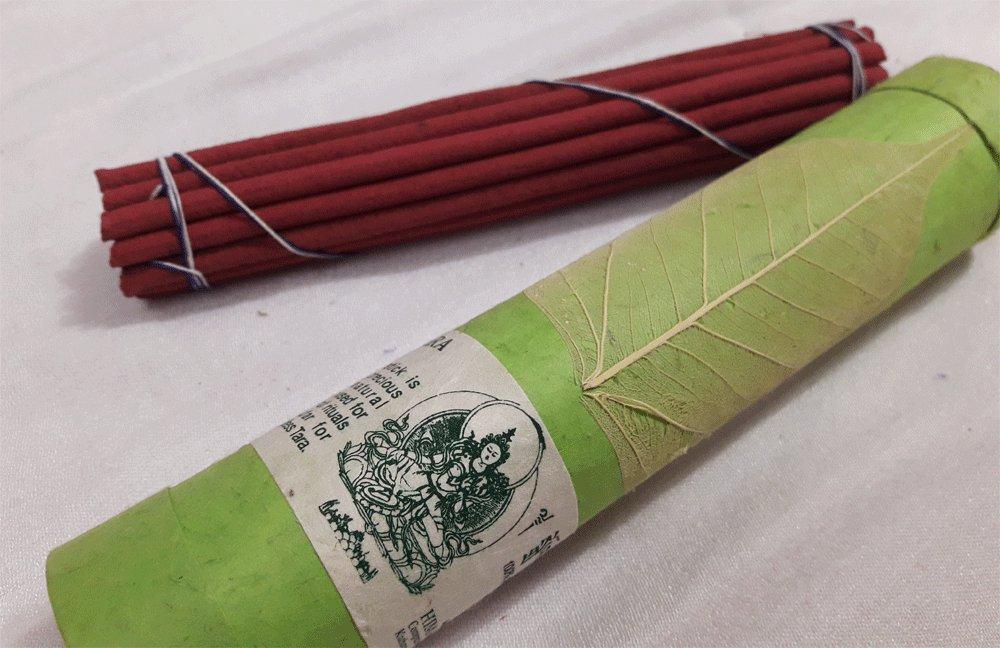 Bodhi Leaf Green Tara Tube Incense Stick