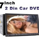 2 two Din 7 inch Car DVD player with GPS navigation Map audio Radio stereo Bluetooth TV AUX Touch