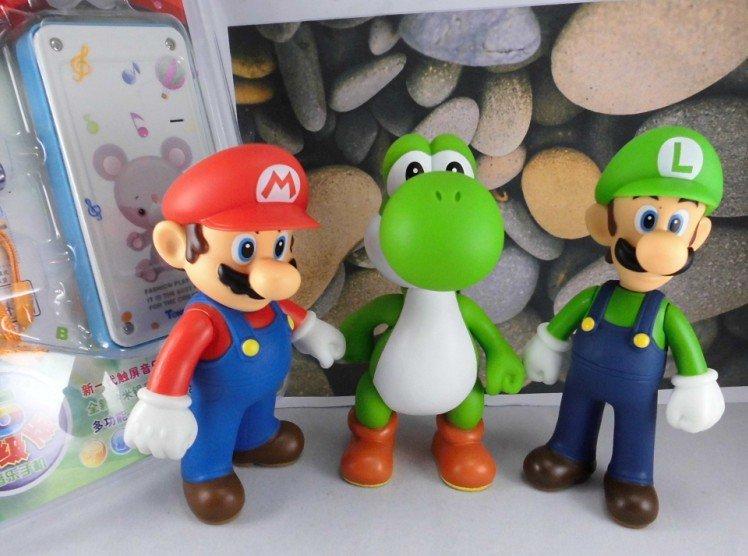 "Nintendo Classic Plastic Super Mario Bros 5"" 3PCS/SET Action figures Toys PVC Doll Gifts"