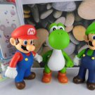 "Nintendo Classic Plastic Super Mario Bros 5"" 3PCS/SET Action figures Toys PVC Doll Gifts"