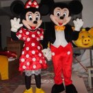 Couple Mickey & Minne Mouse Cartoon Mascot Costume