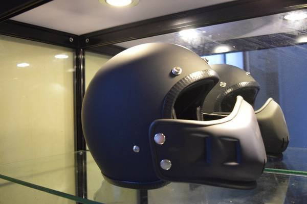 Street Fighter Vintage Retro 3/4 Bubble Motorcycle Cafe Racer Helmet