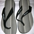 Kaepa black gray thong flip flops women's 7