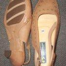 "Doctor PE tan leather slingback 2.5"" heel 6 36 M NWOB"