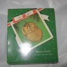 Hallmark 1983 Brass metal Santa head Ornament w/box & price tag NOS Hong Kong