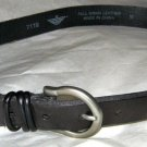 "Dockers black full grain leather belt M 28-31 x 1""  silver tone buckle"