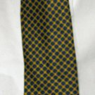 "Brooks Brothers Basics navy yellow silk 4"" blade tie"