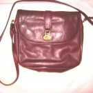 VTG Ettenne Aigner burgundy leather messenger shoulder bag purse EC