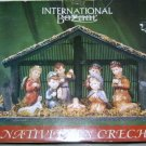 "International Bazaar Nativity in Creche ceramic figurines 12"" x 8"""