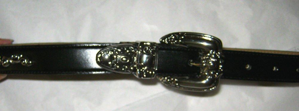 """Capezio black leather western belt Jr M/L NEW 29"""""""