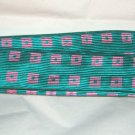 "Talbots green pink fabric d ring buckle belt M 40"" x 1.75"" NWT"
