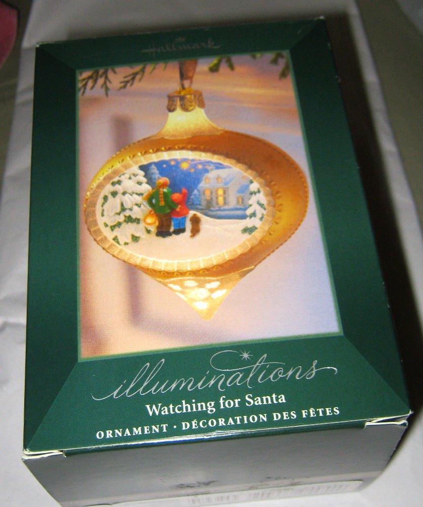 Hallmark Watching for Santa lighted Ornament NIB w/tag