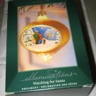 Hallmark Watching for Santa lighted Ornament NIB w/tag