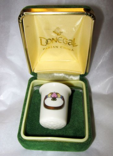 CLADDAGH DESIGN THIMBLE BY DONEGAL PARIAN FINE CHINA Ireland in Box