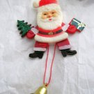 "VTG Dancing Santa moving hard plastic 4"" pin brooch Hong Kong EC articulated"