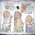 "Homco Nativity Children # 5502 5 piece ceramic figurines 5"" to 1"""