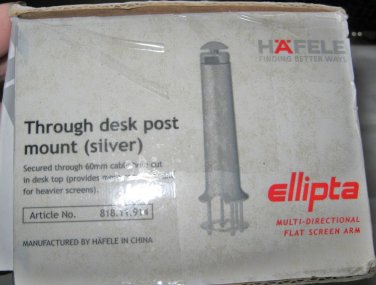 Hafele Ellipta Through Desk Post Mount Silver tone # 818.11.914