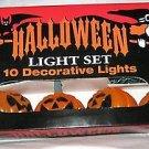 Halloween Jack o lantern 10 Light strand string Golden Light Indoor/Outdoor