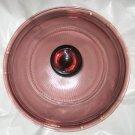 "Pyrex Cranberry Vision ware round sauce lid 6.5"" rim 5.5""  V 1 C 33"
