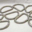 "Silver tone metal oval 2"" D Ring webbing belt buckle NEW ~lot of 10~"