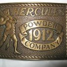 "Hercules 1912 Powder Company 1978 sp edition bronze belt buckle  up to 2"" leathr"
