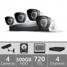 Samsung SDS-P3042 4-Channel 500GB DVR Home Security System
