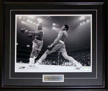 Joe Frazier vs. Muhammad Ali boxing 16x20 frame