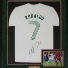 Cristiano Ronaldo Team Portugal signed jersey frame