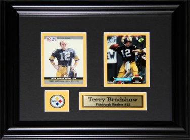 Terry Bradshaw Pittsburgh Steelers 2 Card Frame