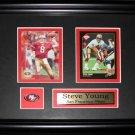 Steve Young San Francisco 49ers 2 card frame