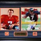John Elway Denver Broncos Signed 2 Photo Frame