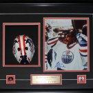 Grant Fuhr Edmonton Oilers Mask Replica Signed 8x10 Frame