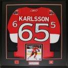 Erik Karlsson Ottawa Senators Signed jersey frame