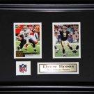 Drew Brees New Orleans Saints 2 card frame
