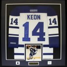Dave Keon Toronto Maple Leafs signed jersey frame