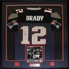 Tom Brady New England Patriots signed jersey frame