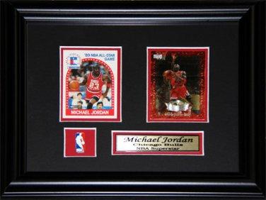 Michael Jordan Chicago Bulls 2 Card Frame