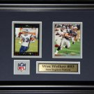 Wes Welker New England Patriots 2 Card Frame